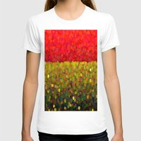 gold glitter T-shirts featuring Sparkle Glitter Red Gold by Saundra Myles
