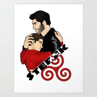 sterek Art Prints featuring Sterek by adorible
