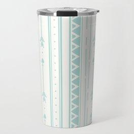 Blush blue white geometric bohemian arrows pattern Travel Mug