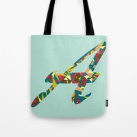 font Tote Bags featuring A font by riz lau
