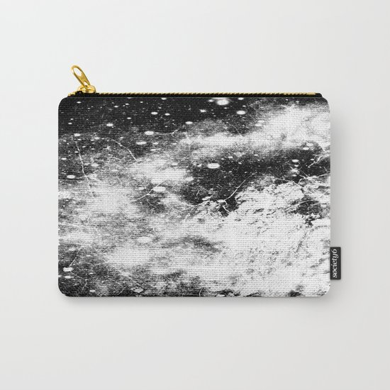 Chaotic Space : Galaxy Black White Gray Carry-All Pouch
