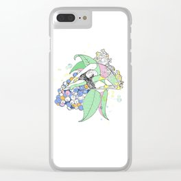 Yoga berries Clear iPhone Case