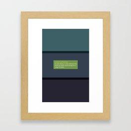 Color Scheme  Framed Art Print
