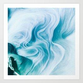 Marble sandstone - oceanic Art Print