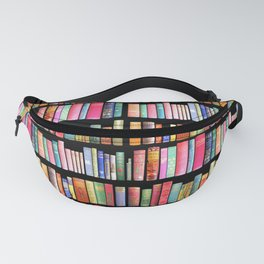 Vintage Book Library for Bibliophile Fanny Pack