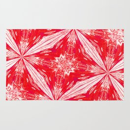 Tropical Red and White Fashion Rug