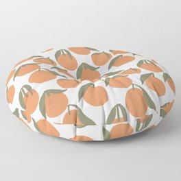 Minimal Summer Oranges Pattern Floor Pillow