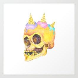 Skull Cream Art Print
