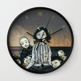 Japanese Dolls - Color Wall Clock