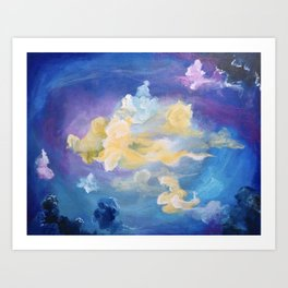 Colorful Cumulus Art Print