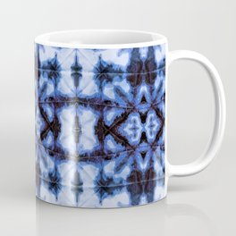 Blue Oxford Shibori Coffee Mug