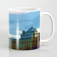 montreal Mugs featuring Old Montreal by LEEMARIE