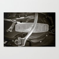 ducati Canvas Prints featuring Ducati by Distorted Imagery