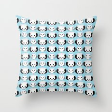 Wampas and Tauntauns on Blue Throw Pillow