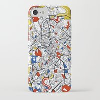 rome iPhone & iPod Cases featuring Rome by Mondrian Maps
