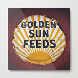 Golden Sun Feeds Metal Print