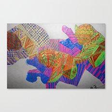 The Sound of Pandas Canvas Print