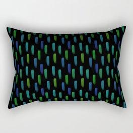 Neon Blue and Green Pattern Rectangular Pillow