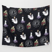 witchcraft Wall Tapestries featuring The WitchCraft Of The DarkSide by Robert Payton