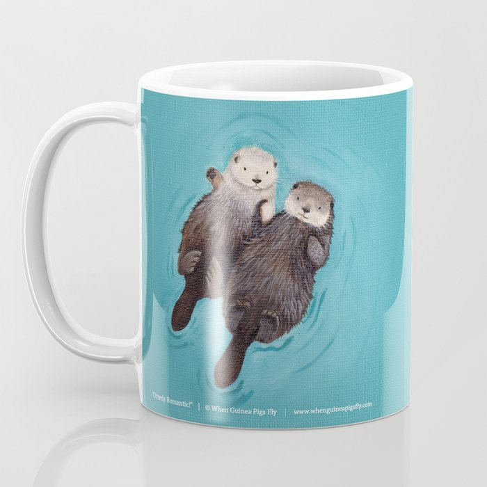 Otterly Romantic - Otters Holding Hands Coffee Mug
