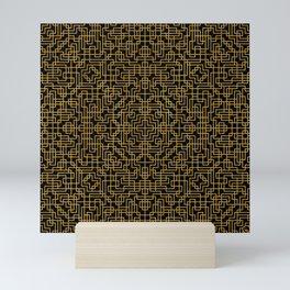 Geometric Symmetry Gold Mini Art Print
