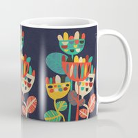 rustic Mugs featuring Wild Flowers by Picomodi