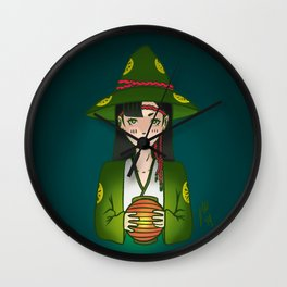 Candlelight Witch Wall Clock