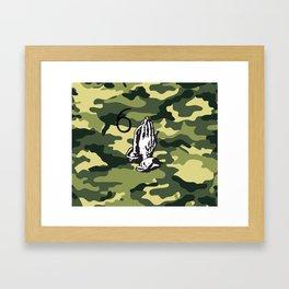DRAKE CAMMO (6 God Praying Hands) Framed Art Print