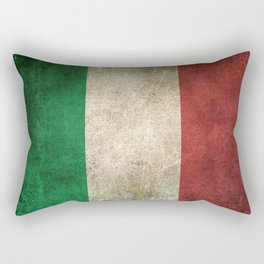 Old and Worn Distressed Vintage Flag of Italy Rectangular Pillow