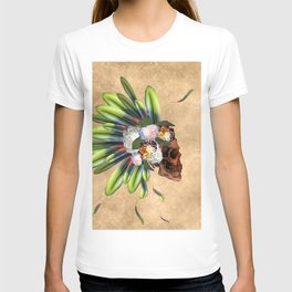Awesome skull with feathers T-shirt
