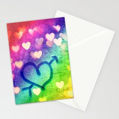 Graffiti Hearts  Stationery Cards
