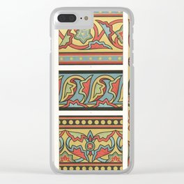 vintage artistic pattern Clear iPhone Case