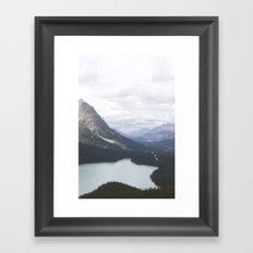 Glacial Lake Jasper Framed Art Print