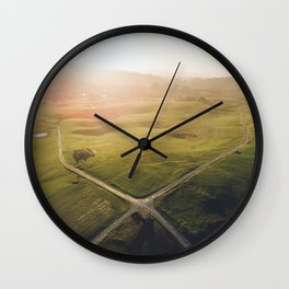 Crossroad from above Wall Clock
