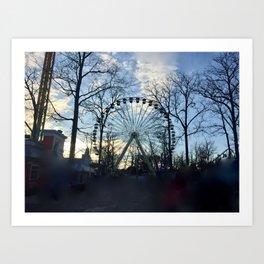 Ferris Wheel Color Art Print