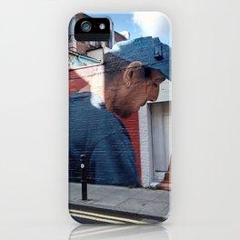 Man with blue cap. iPhone Case