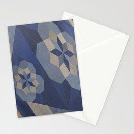 Blue Stars Stationery Cards