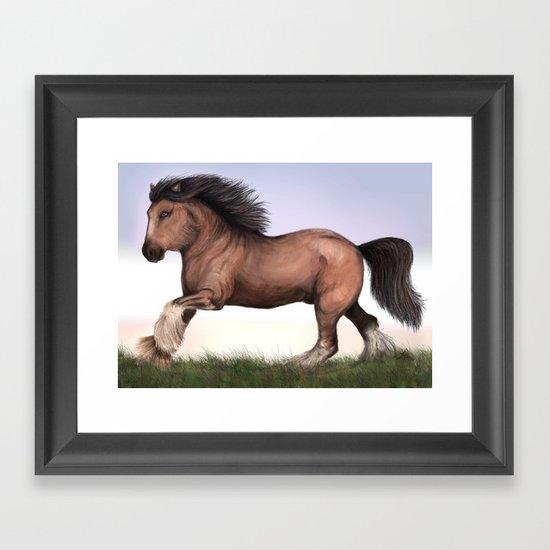 Gypsy Vanner Horse Framed Art Print