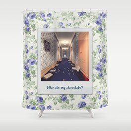 Who ate my chocolate? Shower Curtain