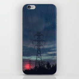 High Voltage Night iPhone Skin