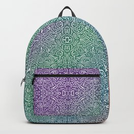 pointy gradient pattern Backpack