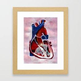 I Left My Heart... Framed Art Print