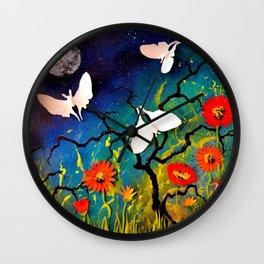 Luna Moths Wall Clock