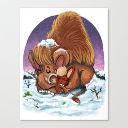 Woolly Mammoths Canvas Print