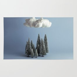 A cloud over the forest Rug