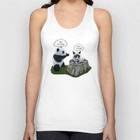 panda Tank Tops featuring Panda by Tummeow