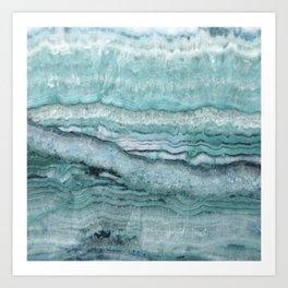 Mystic Stone Aqua Teal Art Print