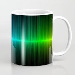 Rainbow Radio Waves Digital Illustration - Artwork Coffee Mug