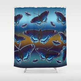White Admiral Butterflies Shower Curtain
