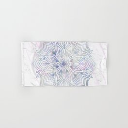 Marble Mandala - Purple Blue Rose Gold Hand & Bath Towel